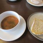 77453416 - [ランチ]スープ(ミネストローネ)と自家製パン