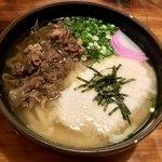 味由 - 料理写真:肉うどん+山かけ 1050円