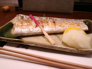 魚筍 - 太刀魚の塩焼き