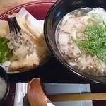 Fukuchan - 牛かす天ぷらセット小飯付き