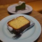 ピープルワイズ カフェ - (2017/10月)グリーンティケーキとレモンポピーシードのケーキ