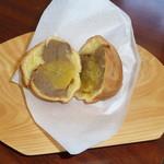 小布施 味麓庵 - 店内で食べた福栗焼き