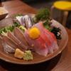 漁師伝説あさまる - 料理写真:3点盛り刺身