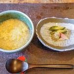 徳山鮓 - 漬物と雑炊