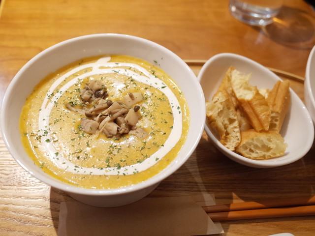 カユ デ ロワ 亀沢店 - きのこカレーチーズ粥(850円)+油条(100円)