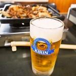 大昌園食堂 - バラ焼きには生ビールがよく合います