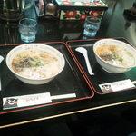 こむらさき 新横浜ラーメン博物館店 - 今回はミニとんこつラーメンを2人前