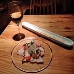 イタリアン&ワイン バル ビアージョ 新宿 - [料理] 白グラスワイン & 蛸のカルパッチョ