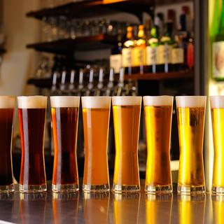 四季折々のクラフトビールを日替わりで♪多彩なドリンクメニュー