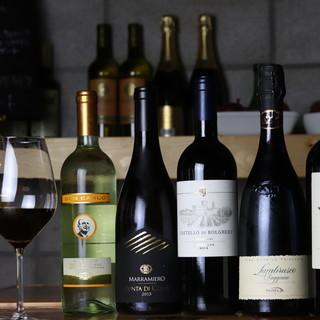 イタリア北南より厳選◆豊富なワインで今宵至福の乾杯を