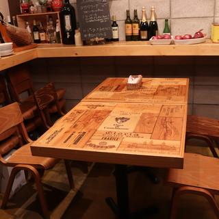 【テーブル席】ソファ席完備◆ちょっとしたお食事に