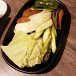 味覚館 - 焼き野菜盛り合わせ 480円+税
