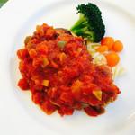 ラ・コンコンブル - 料理写真:チキンソテートマトソース
