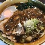 スイッチポン - カレーうどん390円+肉100円+生卵50円