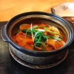 たまさか - 鍋物(桜海老と浅利のとまと鍋)