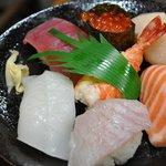 7749594 - 寿し定食 1,450円の寿司 でかすぎて一口では絶対無理です。
