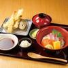 新鮮!ミニサーモンぶり丼と天ぷら定食