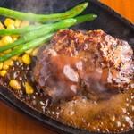 ジャンボステーキはらぺこや - ジャンボハンバーグ(300g)1000円