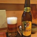 江戸前晋作 - ヱビスビール(小瓶)