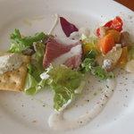 ヨナサルウテ - 前菜3種盛り、見目美しいし美味しい(*^_^*)