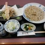 77500014 - 天ぷら(海老付)もり蕎麦。