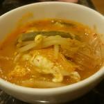 焼肉 コチカル - 石焼豆腐チゲの取り分け後