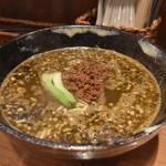 胡楼亭 - ▪︎黒胡麻担々麺 ¥960 青梗菜と微塵ネギ、挽肉。
