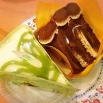 不二家レストラン - 宇治抹茶のケーキ、ティラミスケーキ
