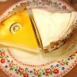 不二家レストラン - 北海道なめらかチーズケーキ、甘酒うるるんチーズケーキ
