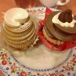 不二家レストラン - 贅沢モンブラン、3種のショコラ