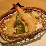 がんこ - [料理] 天ぷら盛り合わせ 全景♪w