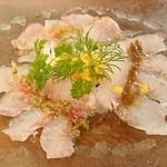 アウグスビール ラボ・キッチン - お刺身カルパッチョ 3種盛り