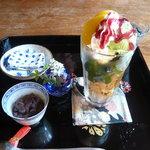 大野町きょう屋 - 料理写真:抹茶パフェ・650円