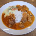 Venu's South Indian Dining - ランチビュッフェ(1000円) この日はマトンチャナ、ミーンコランブ、アヴィアル、パプリカポテトマサラ