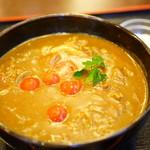 こんぴら茶屋 - トマト牛カレーうどん (¥1,250)