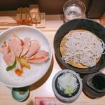 蕎麦きり みよた - 鴨ステーキ丼&小ざる蕎麦セット 930円