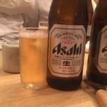 全席個室 京町しずく - ドリンク写真:ビール