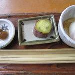 奥多摩釜めし - 先付けのお料理