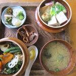 奥多摩釜めし - 奥多摩釜めしの本膳です