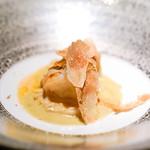 エクアトゥール - 赤座海老と豚足煮込みとブルーチーズと白トリュフ