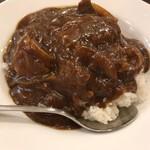 77522587 - 牛バラ肉のカレーご飯アップ