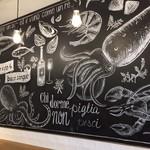 PESCHERIA - 黒板チョーク壁画にノックアウト