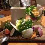 77524116 - 農園野菜のバーニャカウダ