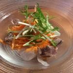 77525724 - カツオと水菜のサラダ