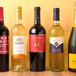 ※上記以外のボトルシャンパン、ボトルワインもご用意しております。