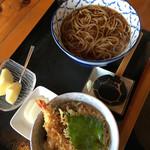 かしわ木 - 料理写真:Bランチ そばとエビ天丼のセット 1,180円