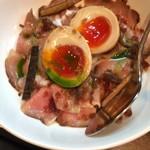 中華蕎麦 葛 - 味玉ローポー丼