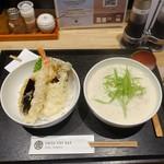 77533290 - 天丼・汁豆乳そばランチ(1,000円)