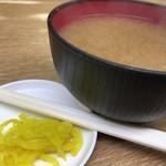 豊野丼 - みそ汁
