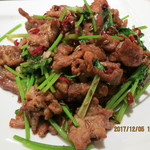 故郷味 - ラム肉のクミン炒め(孜然羊肉)